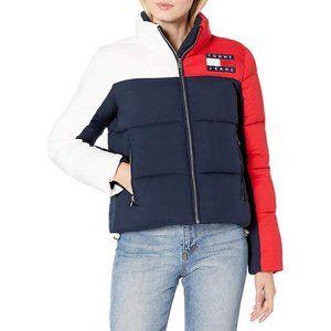 Women's Tommy Jeans Short Puffer Coat Jacket Small